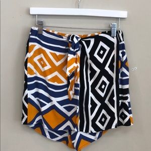 Ella Moss Aztec Print Blue Orange Black Skort